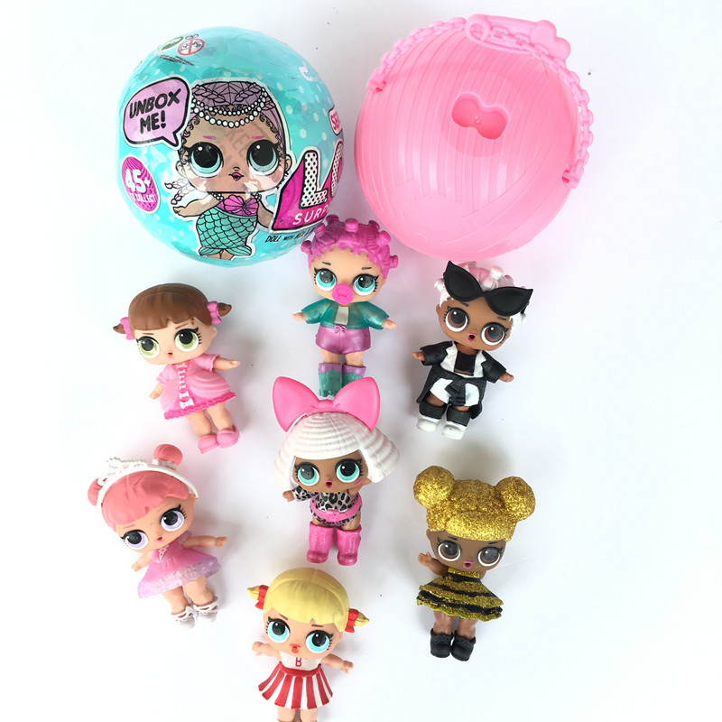 Original <font><b>lols</b></font> Surprises <font><b>Dolls</b></font> With original ball a function of crying and peeing or clothing discoloration (random one function) image