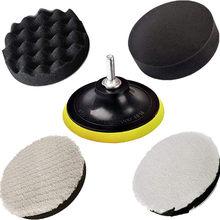Almohadilla de Pulido de 5 pulgadas para Coche, esponja para encerar disco de rueda, pulidor automático, Kit de pulidor, máquina de Pulido