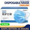 Mask 50pcs Disposable 3 Ply Antivirus Face Mask Anti Coronavirus Mouth Cover Flu Facial Dust Template Filter Corona Virus Masks 1