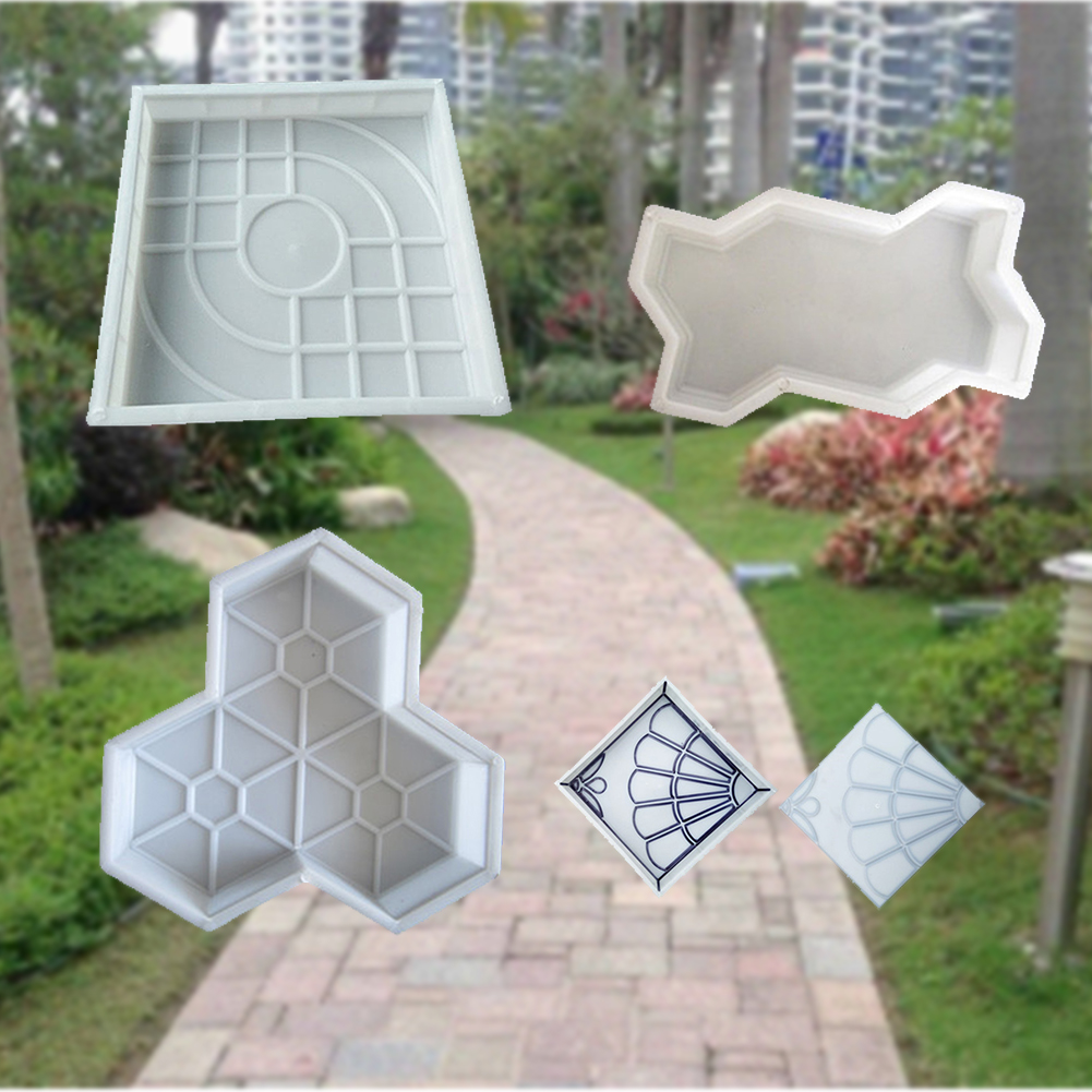 Plastic Removable Cement Brick DIY Tool Home Decoration Manually Backyard Stone Road Concrete Mold Garden Path Reusable
