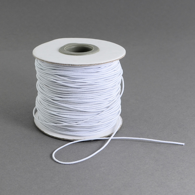 1Roll 1mm 2mm Round 1 Roll Elastic Fibre Thread Cord Earloop Rope For Clothing Sewing Craft DIY Handmade Mask