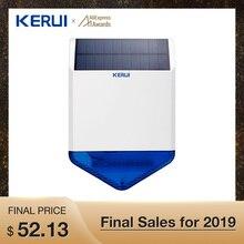 KERUI SJ1 наружная беспроводная Солнечная Сирена для GSM сигнализация Система безопасности стробоскоп Вспышка Сирена Водонепроницаемый Анти-вскрытие