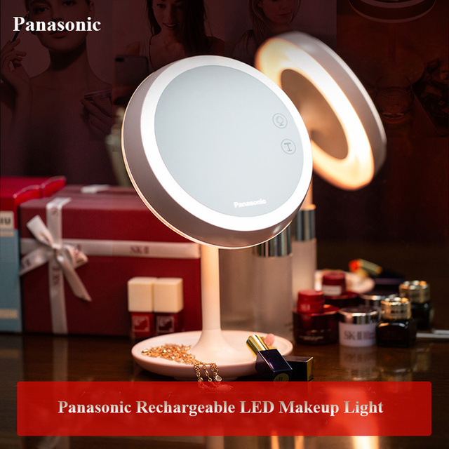 Panasonic LED Professional Lighted Makeup Mirrors with Adjustable LED Light Touch Screen Mirrors for Beauty Makeup Desk Lamp
