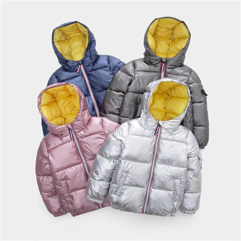 תינוק קטן בני בנות מרופד כסף מעיל חורף מעיל ילדים ילדי הלבשה עליונה פעוט חם פארקים עבור בנות 2 3 4 5 6 שנים