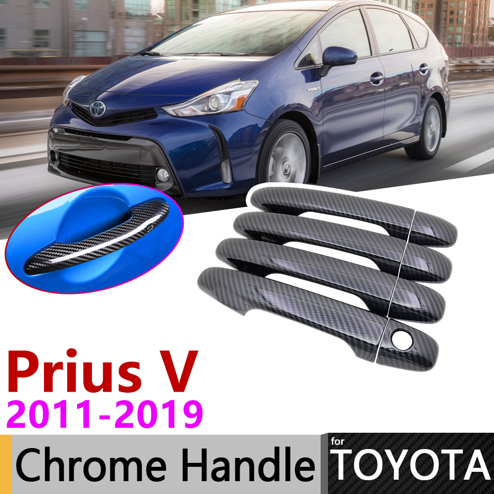 Accessories Chrome Side Door Handle Covers For 2009-2015 Toyota Venza Wagon