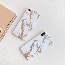 Cool design Rose gold Marble mobile phone funda cover For Apple iPhone 7 Case X XS MAX 8 plus 6s case