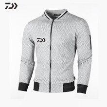 Daiwa Мужская Рыбацкая рубашка с длинным рукавом в походных рубашках Лоскутная Весенняя Осенняя дышащая одежда для рыбалки толстовка на молнии мужская