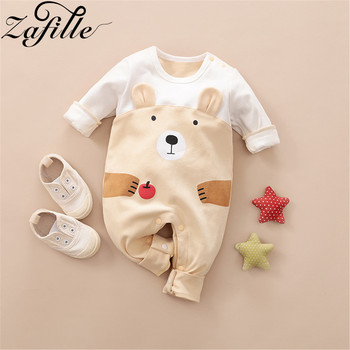 ZAFILLE Baby Romper Cotton Cute Cartoon Bear ropa bebe Newborn Rompers Baby Boy Girl Clothes Autumn Winter Baby Clothes baby rompers autumn long sleeve newborn baby boy girl bear toddler jumpsuit romper baby clothes hooded 2018 cute clothing 2yrs