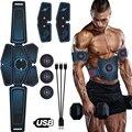 Электрический EMS стимулятор мышц живота для похудения ABS Фитнес оборудование унисекс тренажер мышц тела учебный массажер