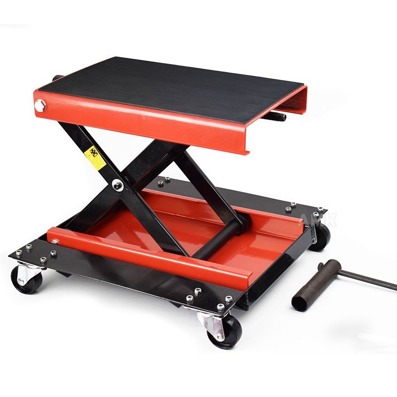 Loading 500Kg Multifunction Stand Scissor Lift Hoist Motorcycle Center Scissor Lift Hoist Workshop Bench Tool Set