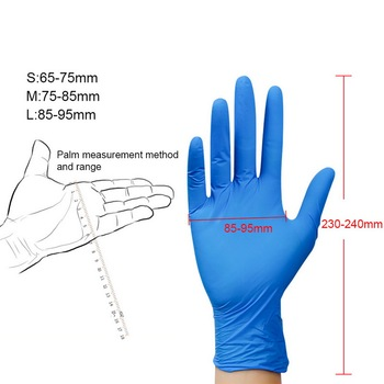 100pcs disposable gloves latex universal kitchen/dishwashing/medical /work/rubber/garden gloves for left and right hand 4 colors