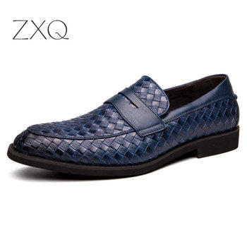 italian brand designer men casual business wedding formal dress bright patent leather shoes slip on lazy driving oxfords loafers 2020 Men Shoes Brand Braid Leather Casual Driving Shoes Slip On Men Loafers Moccasins Italian Shoes for Men Flats