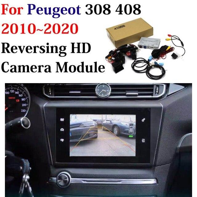 Caméra de stationnement avant arrière de voiture pour Peugeot 308 408 2011 2020 HD CCD sauvegarde caméra de recul Original écran mise à jour décodeur accessoires