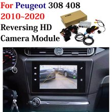 Car Rear Front Parking Camera For Peugeot 308 408 2011 2020 HD CCD Backup Reverse CAM Original Screen Update Decoder Accessories