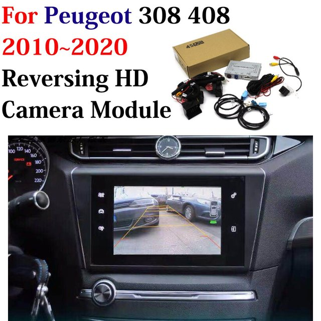 Xe Phía Sau Mặt Trận Đậu Xe Máy Ảnh Dành Cho Xe Đạp Peugeot 308 408 2011 2020 HD CCD Hỗ CAM Màn Hình Gốc Cập Nhật bộ Giải Mã Phụ Kiện