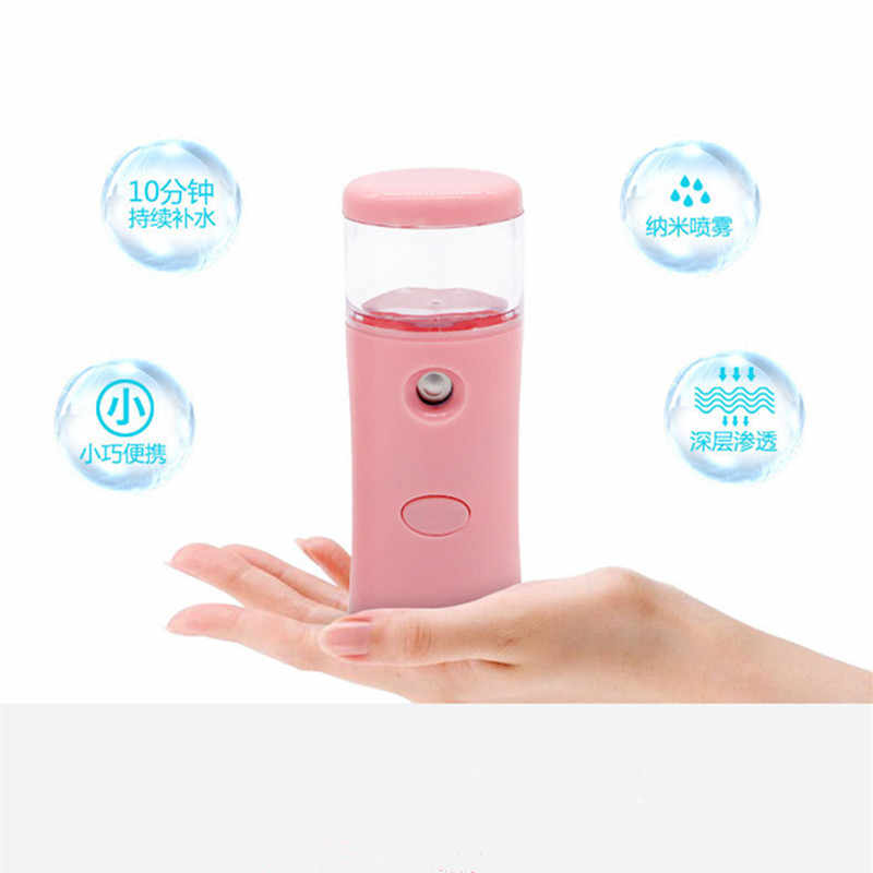 Portable Air Humidifier USB Rechargable 35ML Handheld Water Meter Ultrasonic Charging Diffuser Mini Milk Face Oil Steamed