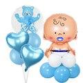 Детские воздушные шары для мальчиков и девочек, украшения для 1-го дня рождения, Детские воздушные шары из фольги для мальчиков и девочек