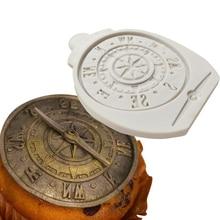 Antique Compass Silicone Mold Fondant Cake Decor Silicone Molds Sugarcrafts Chocolate Baking Tools Cakes Gumpaste   K625