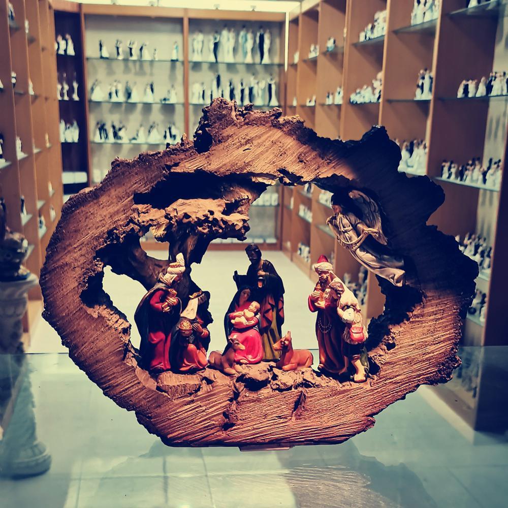 Zayton natividade cena conjunto sagrada família estatueta decoração de casa estátuas cristo jesus maria joseph escultura em miniatura presente natal