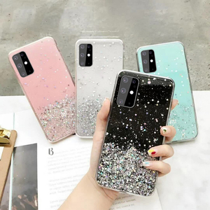 Soft Clear Glitter Star Case TPU Cover for Samsung Galaxy A01 A11 A21S A31 A41 A51 A71 M31 Note 10 Lite Plus 20 S20 FE M21 M11