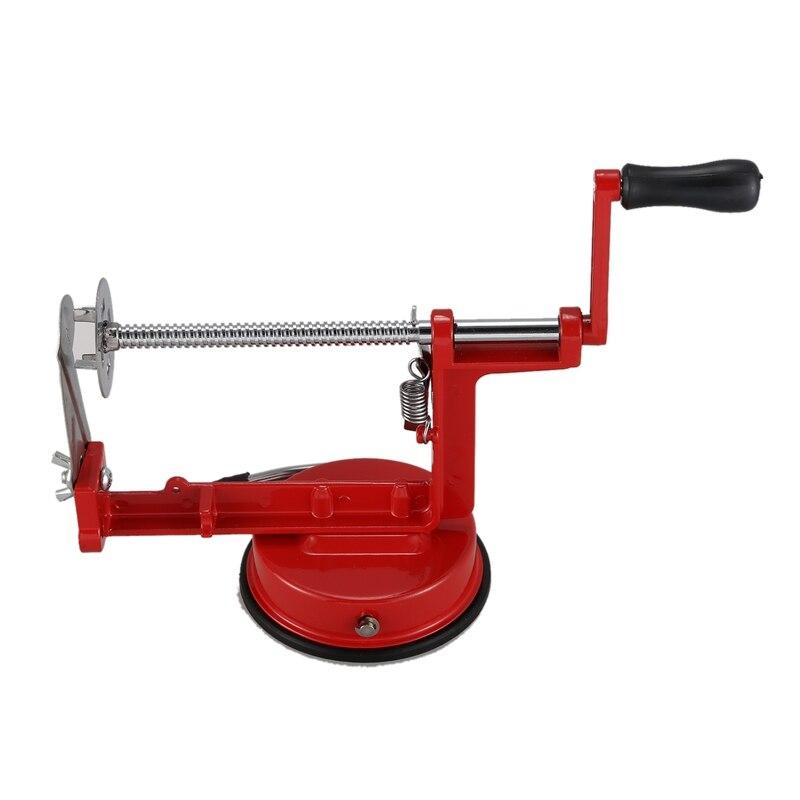 Potato Twist Slicer Stainless Steel Kitchen Accessories Spiral Chip Slicer Manual Cutting Machine Red Metal