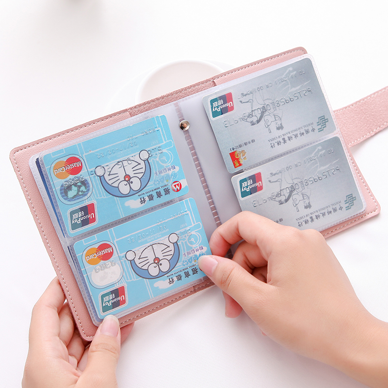Fashion Women's Men's Function 60 Slots Business Card Holder ID Credit Cards Wallet Leather Large Capacity Protection Card Case