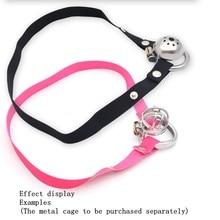 Banda elástica masculino dispositivo de castidade cinto auxiliar ajustável corda escroto anel roupa interior mulher lésbica ferramentas adulto brinquedos para o homem