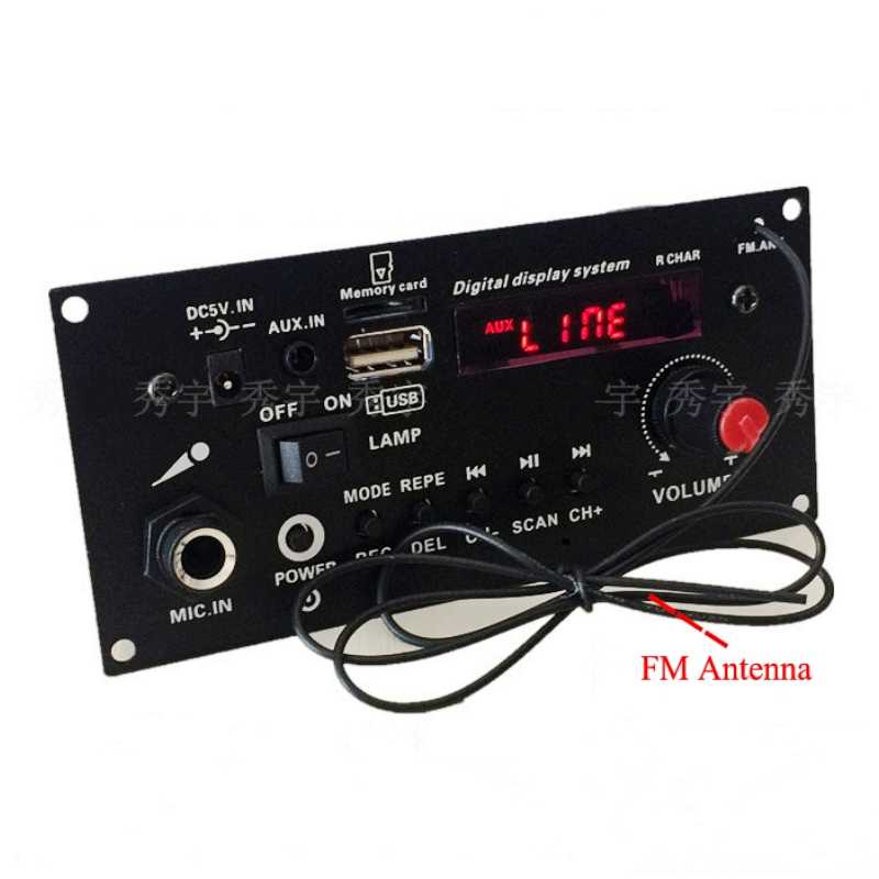 Bricolage haut-parleur 3.7V lithium batterie numérique Bluetooth Mono amplificateur carte Microphone karaoké amplificateurs AUX TF USB FM enregistrement