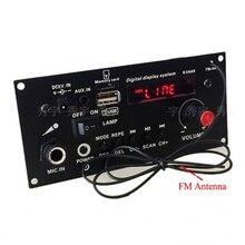 Bricolage haut parleur 3.7V lithium batterie numérique Bluetooth Mono amplificateur carte Microphone karaoké amplificateurs AUX TF USB FM enregistrement