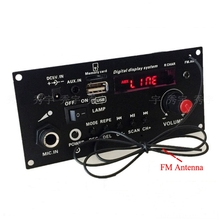 Diy alto falante 3.7 v bateria de lítio digital bluetooth mono amplificador placa microfone karaoke amplificadores aux tf usb fm gravação