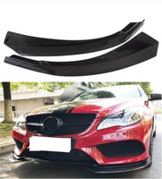 2pcs Real Carbon Fiber Car Front Bumper Spoiler Splitters Side Aprons Lip For W207  E200 E260 E300 E350 2010 2017|Bumpers| |  -