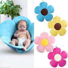 80 cm Newborn Baby Bathtub Mat Foldable Blooming Flower Shape Baby Bath Support Mat Baby Shower Cushion Security Petal Seat Pad(China)