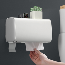 Bathroom Wall-Mounted Toilet Paper Holder Double Shelf Bathroom Waterproof Tissue Box Paper Storage Box Tissue Shelf Roll Holder xueqin gold bathroom hotel paper holder retro copper wall mounted roll tissue storage shelf towels phone book holders