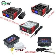 STC-3018 STC-3028 STC-3000 W1209WK LED cyfrowy regulator temperatury termostat DC 12V 24V AC 110V 220V kontrola Temp domu