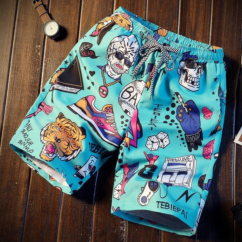 Men Short 16 Style Shorts Men Summer Beachwear Print Quick Dry Short Trousers Causal Drawstring Sportwear Male Shorts Plus Size
