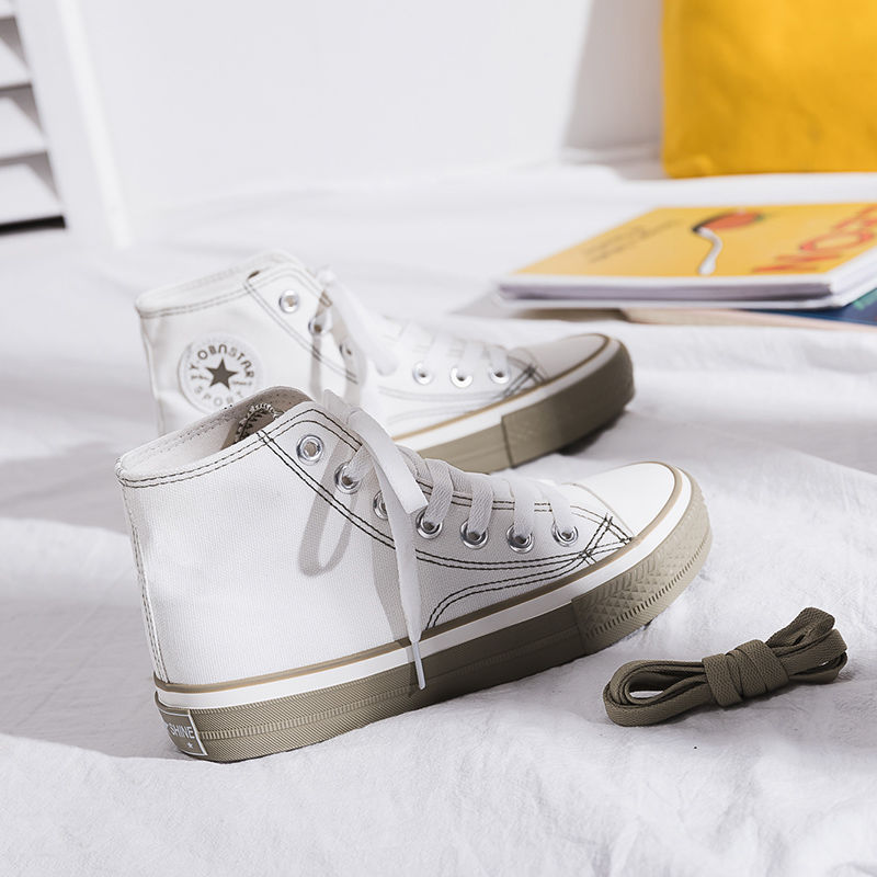2020 New Canvas <font><b>Shoes</b></font> Women Teenagers <font><b>Skateboard</b></font> <font><b>Shoes</b></font> Spring Summer Candy Color Street Sneaker All Match Outdoor Footware 35-40 image