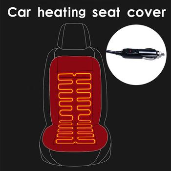 12V podgrzewane siedzenie samochodu pokrywa płaszcz na fotelu samochodowym ogrzewanie uniwersalny pokrowiec samochodowy pokrowiec na fotel samochodowy ogrzewanie fotela samochodowego tanie i dobre opinie tisity Jesień I Zima Poliester Pokrowce i podpory Podstawową Funkcją