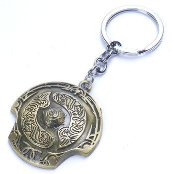 1pc DOTA 2 Immortal Champion Shield Key Chain Aegis of Champions Car Key Chain For Men Jewelry Accessories Gift Wholesale 1