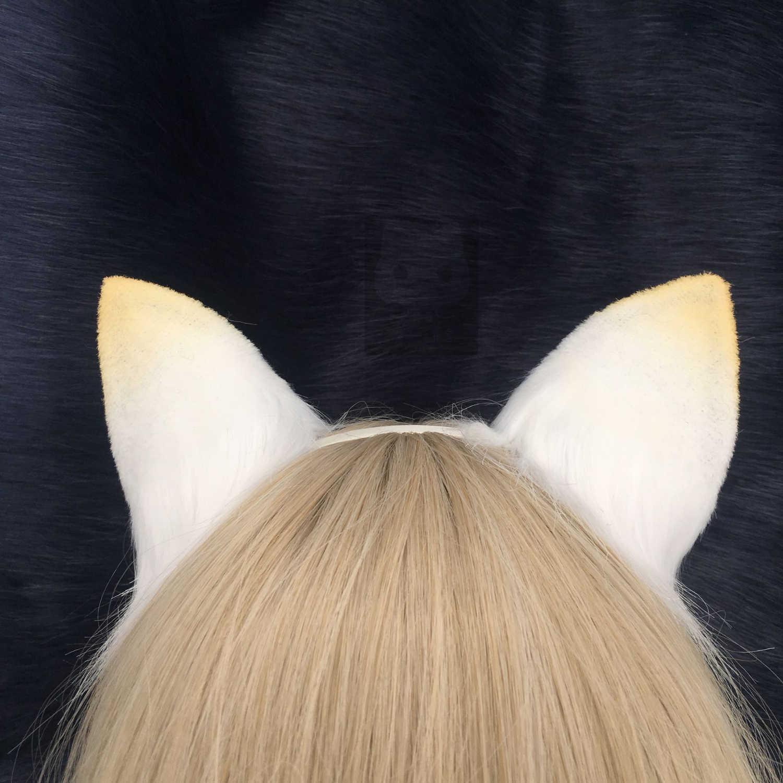 MMGG Новый Arknights кошмар белый Снежный Кот Неко уши лисы обруч для волос для аниме Лолита косплей костюм аксессуары