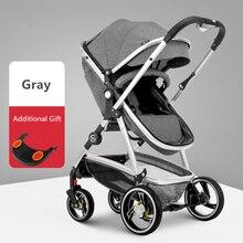 High Landscape Baby Stroller Shock Absorption Suspension Stroller Reversible Portable Baby Trolley Traveling Pram for Newborns