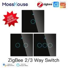 Smart-Light-Switch Google-Hub Alexa Zigbee with Neutral/no-Neutral No-Capacitor Works