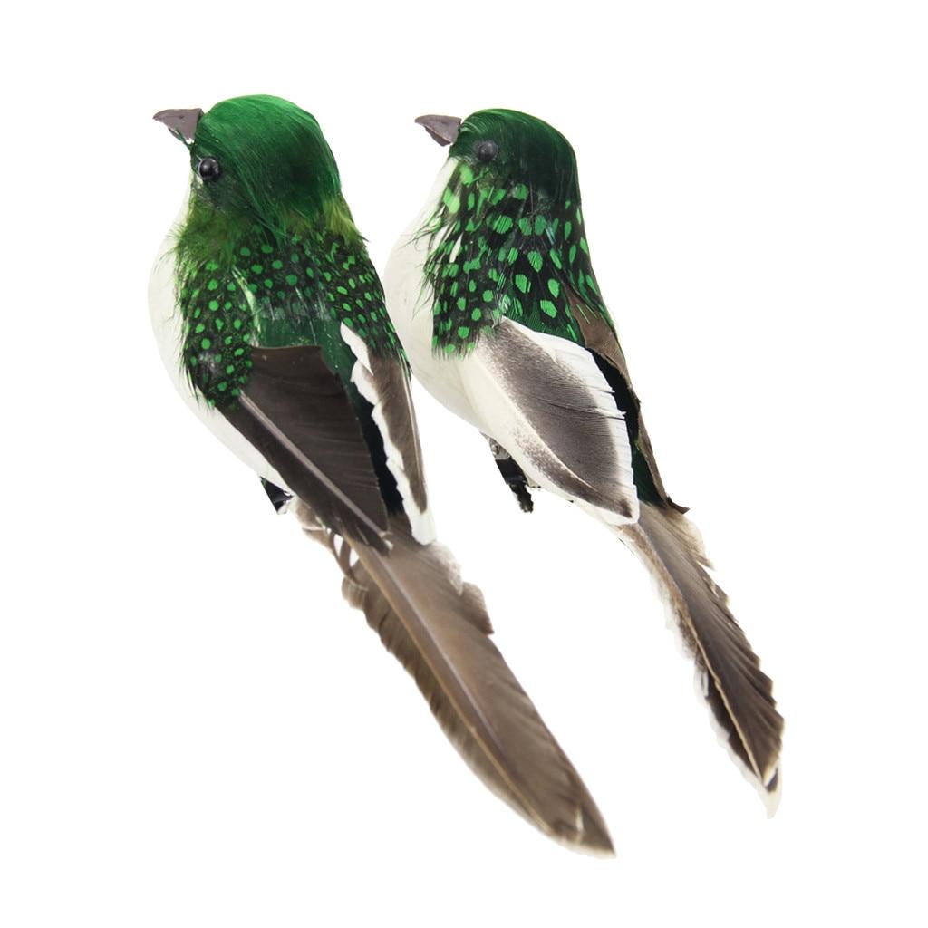 12Pc Artificial Dove Birds Ornament Crafts Gift Home Decorative Random Color