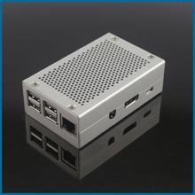 S ROBOT Raspberry Pi 3 Model B Aluminum Case Silver Cooling Box Shell Suitable for 3B+ Pi3 3B Plus Enclosure RPI156