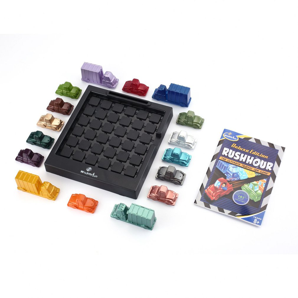 Funny Rush Hour Traffic Jam Game Thinkfun Replacement Pieces Parts Spares Logic Busy Hour Game Car Toy For Kids Boys Gift