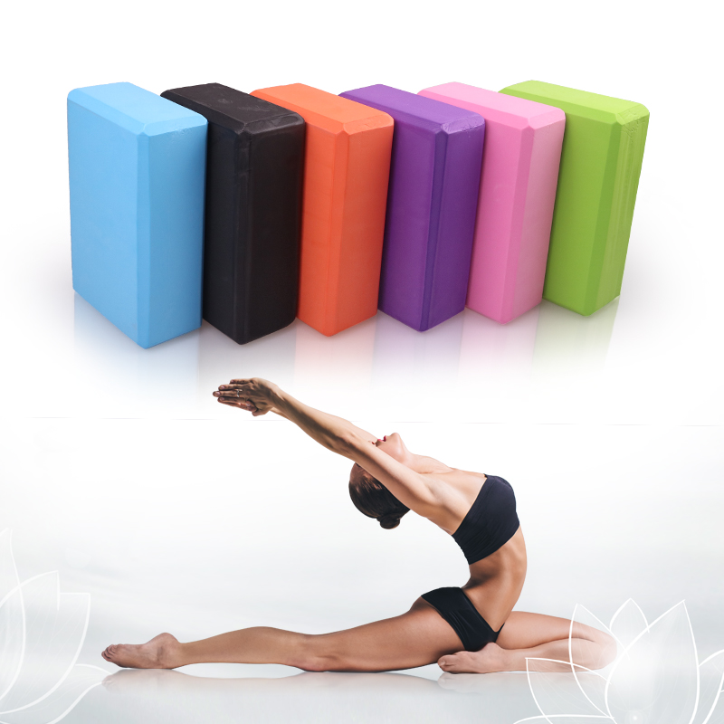 Block-Set Brick Fitness-Training-Block EVA Exercise Stretching Yoga-Bolster Workout Pilates