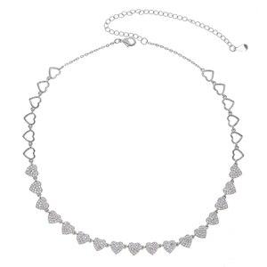 Image 4 - Hart ketting micro pave cz multi stuk heart charm link chain vriendin valentijnsdag gift mode sieraden