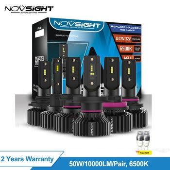Novsight H4 Led H7 H1 H11 автомобильный светильник, 50 Вт, 10 лм, автомобильный комплект 6500k 9005 Hb3 9006 Hb4, светодиодный головной светильник, автомобильные ла