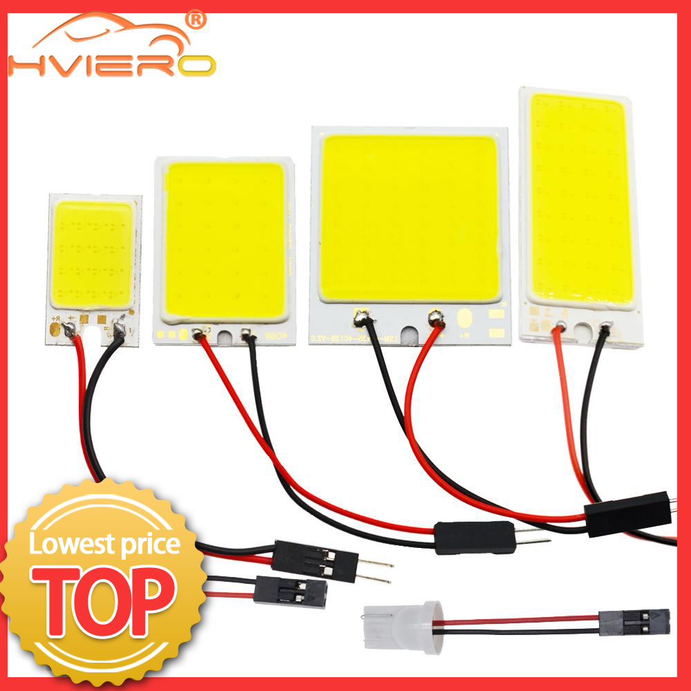 Weiß Rot Blau T10 W5w Cob 24SMD 36SMD 48SMD Auto Led Fahrzeug Panel Lampe Auto Innen Lesen Lampe Lampe Licht dome Girlande BA9S