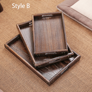 Image 5 - 3 piece Set Paulownia Wood Serving Tray Tea Tray Food Tray Rectangular Wood Chinese Gongfu Tea Set Tray