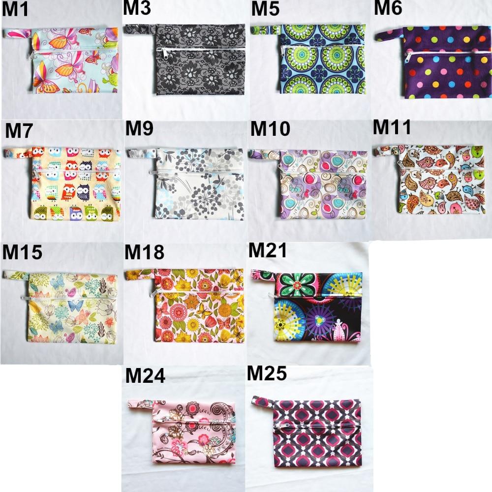 H3a2e48762cff4351a28021aec48cb02eO [Sigzagor] 1 Small Mini Wet Bag Reusable for Mama Cloth Sanitary Menstrual Maternity Pad,Tampon,Cup Bib,Buyer PICK,35 Designs